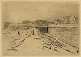 View of the old fortifications of Paris