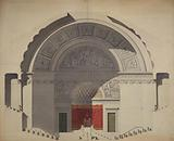 Section of a project presumed to be for the Salle des Sessions at the Palais Bourbon
