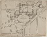 Draft plan for the Madeleine church and the square before the church