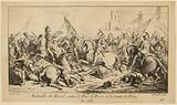 Battle scenes for the General History of Languedoc n°40: Battle of Revel between the Duke of Berri and the Count of …