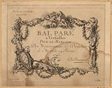Ball adorned at Versailles for the Marriage of Monseigneur le Dauphin, 24 February 1745