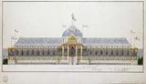 Tribune raised at the Champs de Mars for the distribution of eagles, 5 December 1804