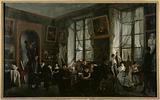 Female drawing class, circa 1810