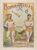 Nestor And Aerian, World-Famed. Gymnasts, The Most. Accomplished. Double. Somersaultists. Living.