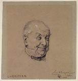 Portrait of Lhéritier, actor of the Royal Palace