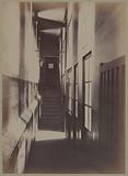 Sainte-Pélagie prison, 14 rue du Puits-de-l'Ermite. Corridor of the visiting room, 5th arrondissement, Paris.
