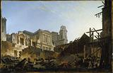 The Saint-Germain fair after the fire on the night of 16 March to 17, 1762