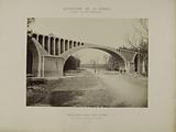 Diversion of the Vanne – Forest of Fontainebleau – Agglomerated concrete arcades – Route d'Orléans – Large arch above …