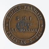 Visit of Napoleon III to the Monnaie de Paris, 3 May 1854