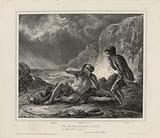 Stéphano, Caliban, Trinculo. Shakespeare's Storm.
