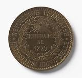 Medal commemorating the Universal Exhibition and the centenary of the French Revolution, 1889
