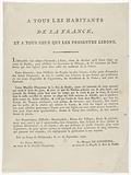 To All Inhabitants of France, and To All Who Will Read them