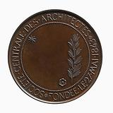 Medal of the central society of architects, founded on 27 May 1843