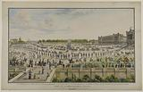 Perspective view of the great review of the allied troops passed on the Place Louis XV on 15 April 1814, by the …