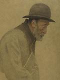 La Bouchée de pain: an old man wearing a bowler hat, a shoulder bag