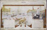 Sketch for the village hall of the town hall of Nogent-sur-Marne: Festival: Rowing regatta in Nogent