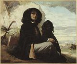 Self-portrait said Courbet to the black dog