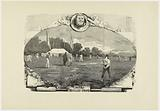 The locust game. Great match played in the Bois de Boulogne between French and English players.