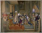 Marshal Berwick receiving the Golden Fleece