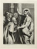 Jesus Christ giving the keys to Saint Peter after Rubens
