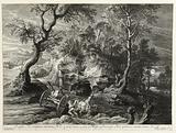 Rocky landscape after Rubens