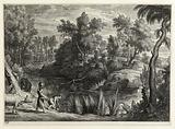 Landscape with a Pond after Rubens