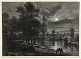 Landscape, night effects after Rubens