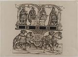 The Triumph of Emperor Maximilian I: One hundred and fifth plate, the funeral statues