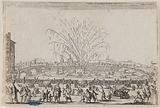 Les Caprices, The Fireworks on the Arno. Forty-fifth number of the suite of 50 pieces engraved in Nancy.