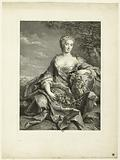 Portrait of Mademoiselle Pelissier after Drouais. Actress in the opera, 1707–1749 (Firmin-Didot 355).