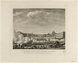 Artillery salvo fired at the Place d'Armes, at the Palace of Versailles, on the announcement of the departure of the …