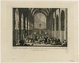 Moord van Lescuijer, in de kerk der Franciskanen, te Avignon, op den 16den van Wijnmaand 1791