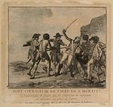 Courageous death of Fabre de l'Hérault, representative of the people, who was slain by the Spaniards while defending a …
