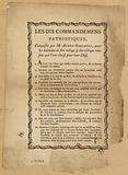 "French Revolution:""the Ten Commandments"" from the Declaration of Human Rights, composed by the mayor M Aubry-Bassault …"