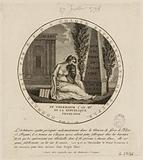 """Female allegory on the """"victims of Anarchy"""": 73 deputies imprisoned after the fall of Robespierre"""
