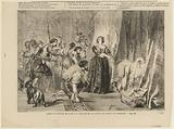 Anne of Austria shows slingers the young king Louis XIV asleep