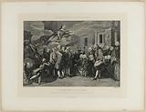 The municipal body of Paris receiving King Louis XV on his return from Metz