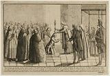 Representation of the Miracle that arrived in Paris on the day of the great Fête Dieu last at the Procession of St …