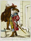 Mr Mirabeau ready to leave for Aix la Chapelle coeffected with the hat of the aristocracy by his friend and colleague …