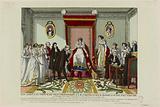The farewell of Prince de Trautmansdorff to HM Empress Marie Louise of Austria