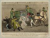 Attack on the person of HRH Mgr. The Duke of Berri leaving the Opera on 13 February 1820, at ten minutes to eleven.