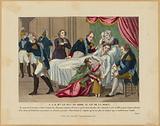 HRH the Duke of Berri on deathbed