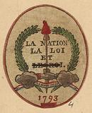 Company token of the friends of the fatherland of Cherbourg, citizen Turel, 1793