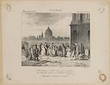 Parisian week. National Album. Sunday, 1 August 1830. There, women in mourning go to pray on their knees ….