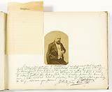 Asplet album folio 13, photograph and dedication of the outlaw Cahaigne