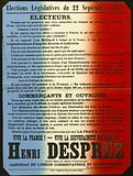 Legislative elections of 22 September 1889