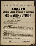 French Republic. Liberty – Equality – Fraternity. Police Department.