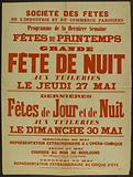 Society of Parisian Industry and Commerce Festivals. Program of the Last Spring Holiday Week. Big.