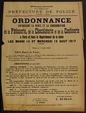 French Republic. Liberty – Equality – Fraternity. Police Department. 2nd Division – 3rd Bureau. Order.