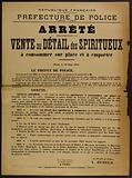 French Republic. Liberty – Equality – Fraternity. Police Department. 1st Division – 1st Bureau. Stopped.